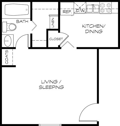 300 Square Feet Apartment Floor Plan Gurus Floor