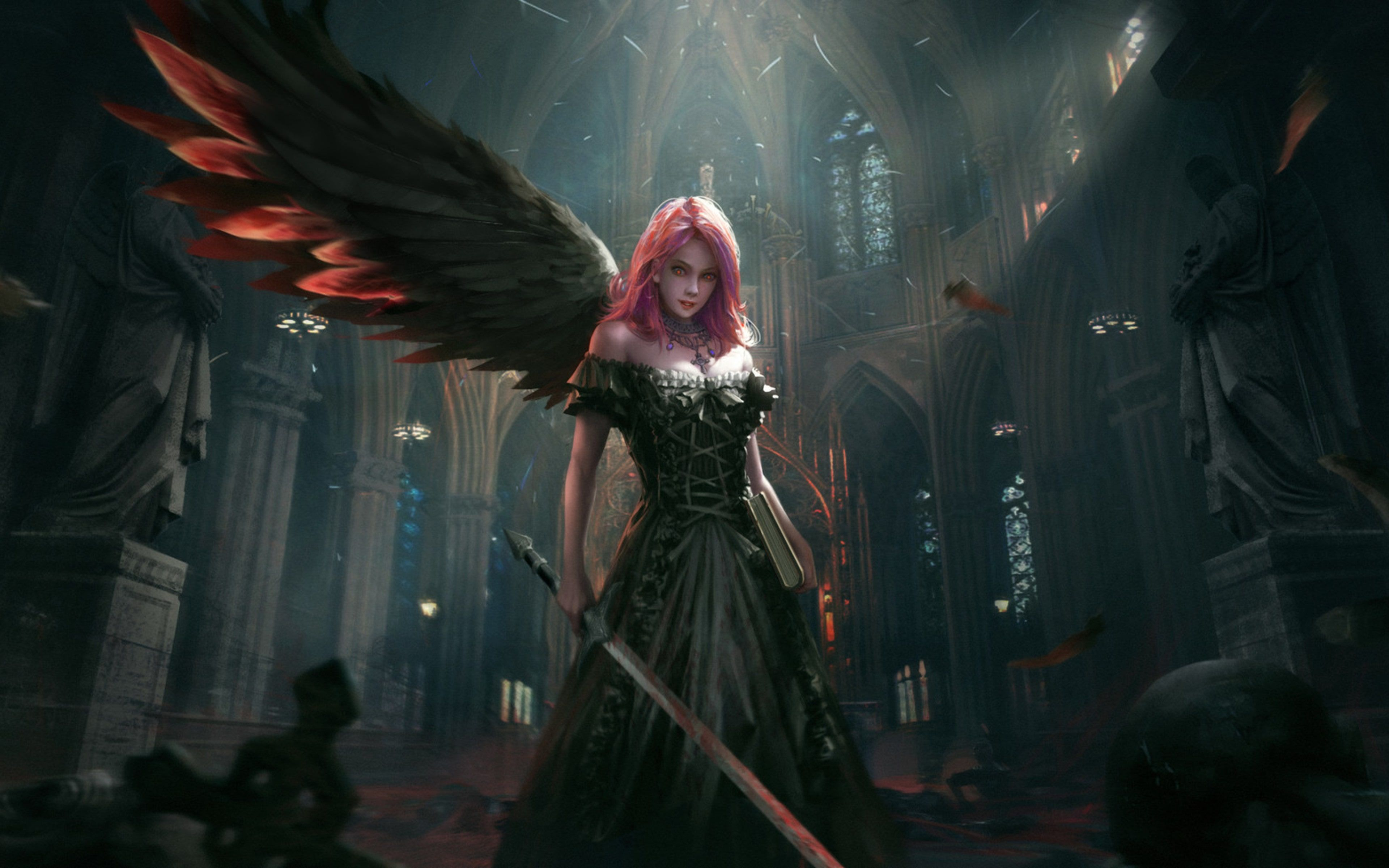 Dark Angel Epic Artwork Is An HD Desktop Wallpaper Posted In Our Free Image Collection Of Fantasy Wallpapers