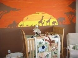 Lion King Nursery Theme | Lion Themed Baby Nursery, Narnia Themed,Lion King  Themed, Safari I Love The African Sunset In The Background.