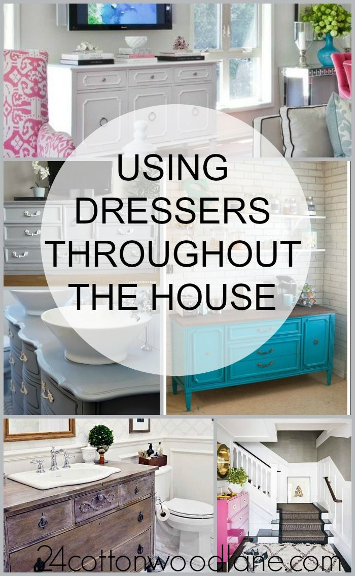 Using dressers all over the house dresser storage and room