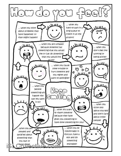 How do you feel? - board game worksheet - Free ESL printable ...