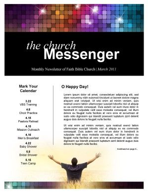 Awaken Church Newsletter  Newsletter Templates  Church