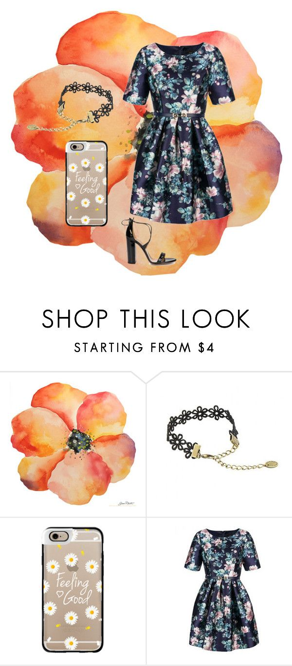 """Flower power"" by maemaed ❤ liked on Polyvore featuring Casetify, Relaxfeel, Aquazzura, women's clothing, women, female, woman, misses and juniors"