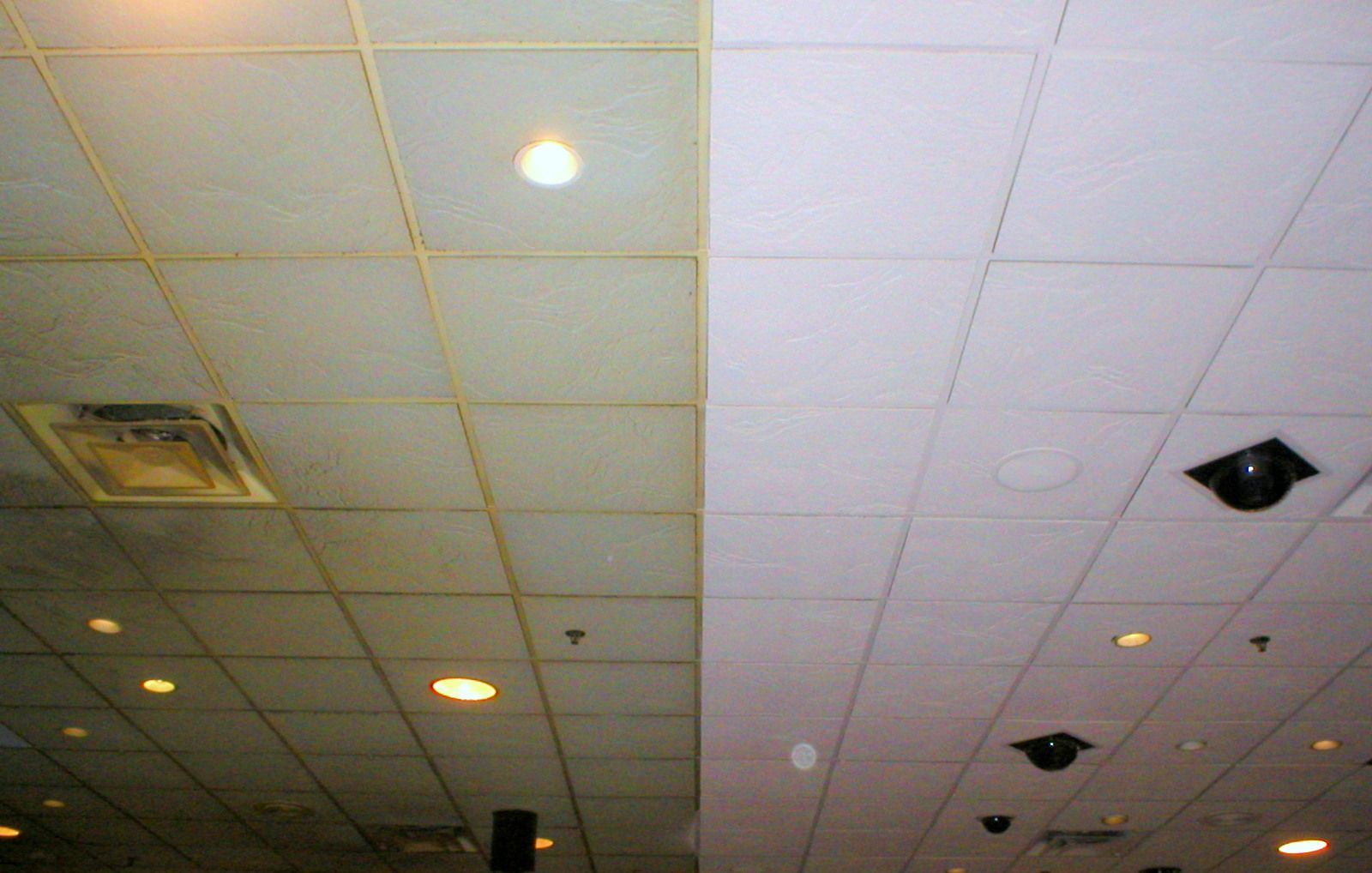Spraying ceiling tiles theteenline spray paint acoustic ceiling hbm blog dailygadgetfo Images