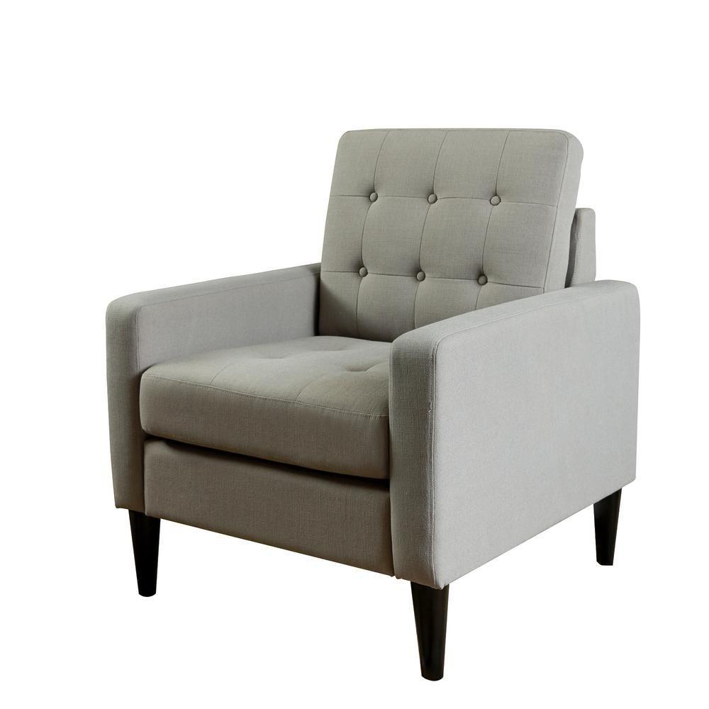 Lokatse Industrial Gray Upholstery Arm Chair Ac18803g Living
