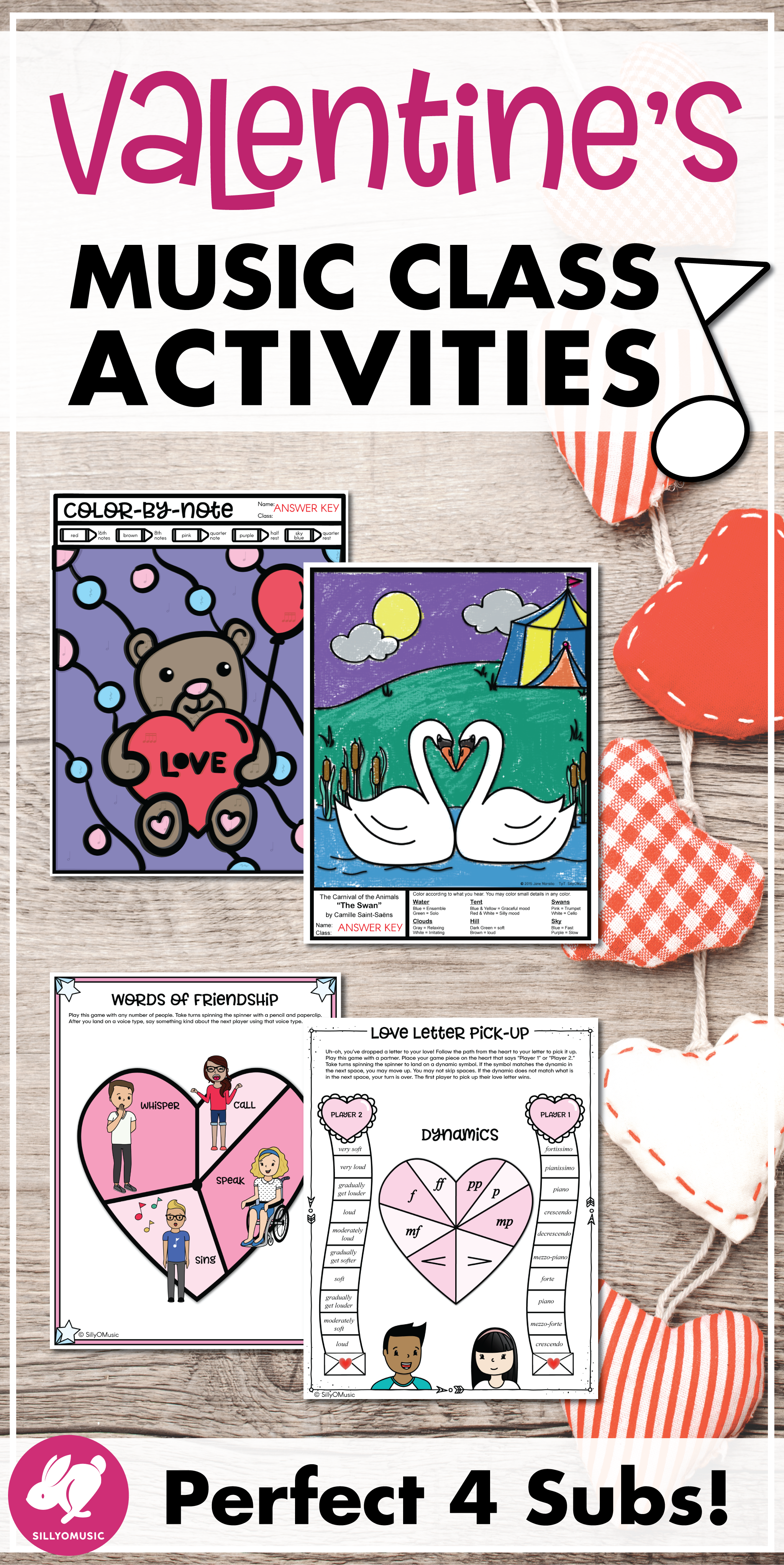 Valentine S Day Music Activities Worksheets Amp Coloring