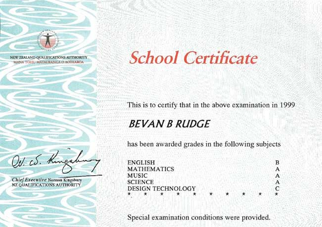 Image result for new zealand school certificate samples - samples certificate