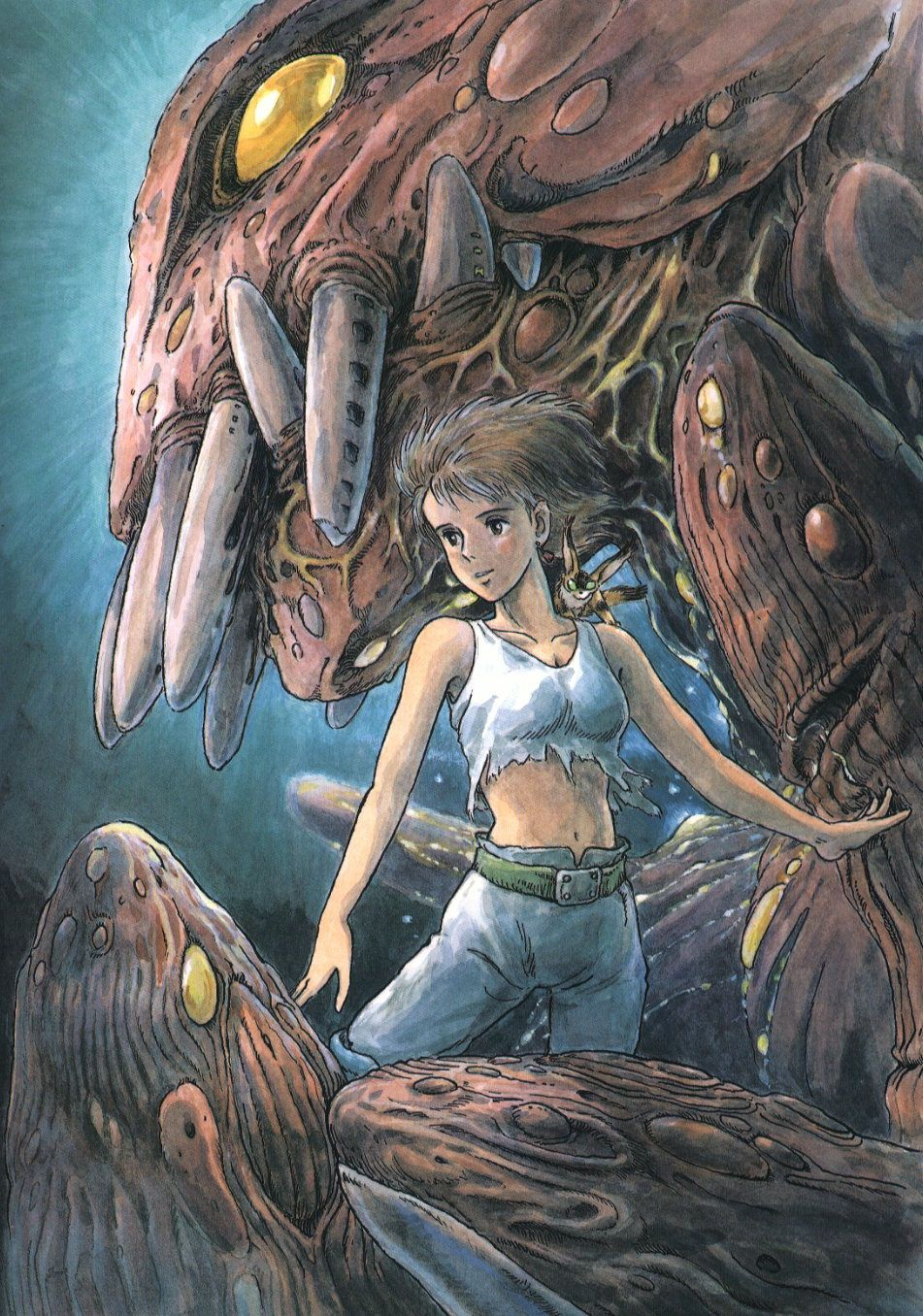 "Illustation of ""Nausicaa of the valley of the wind"""