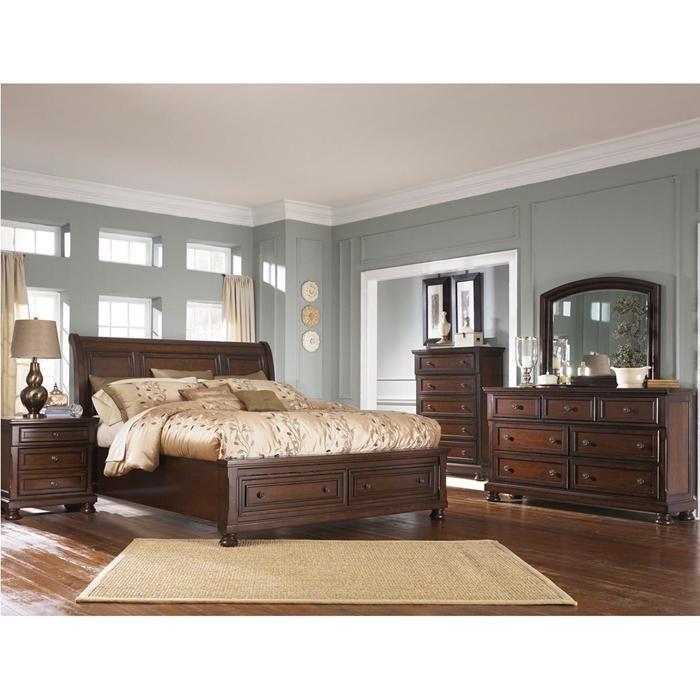 Best Porter 5 Piece King Bedroom Set In Burnished Brown 400 x 300