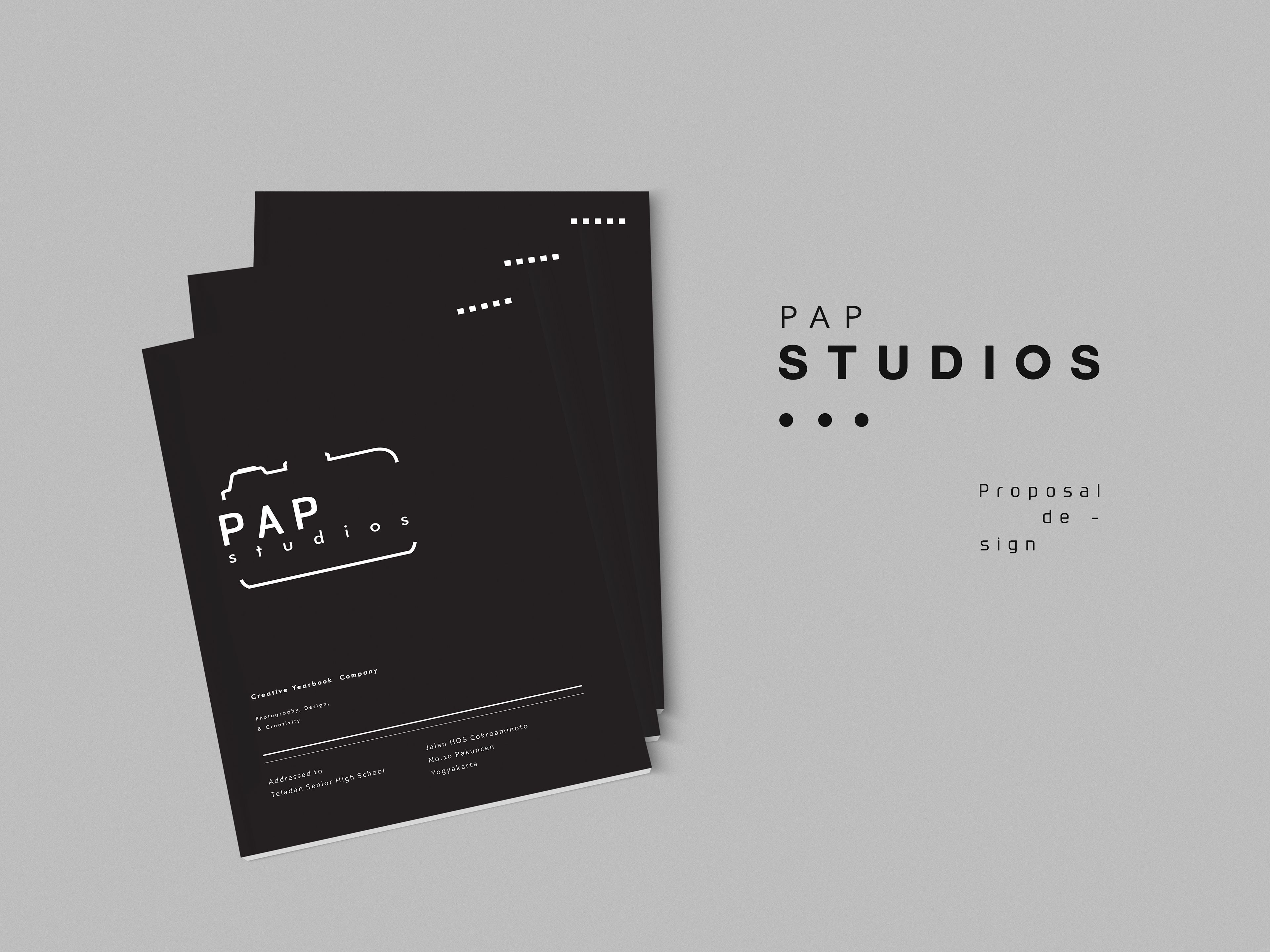 Minimal Work for pap studios created in