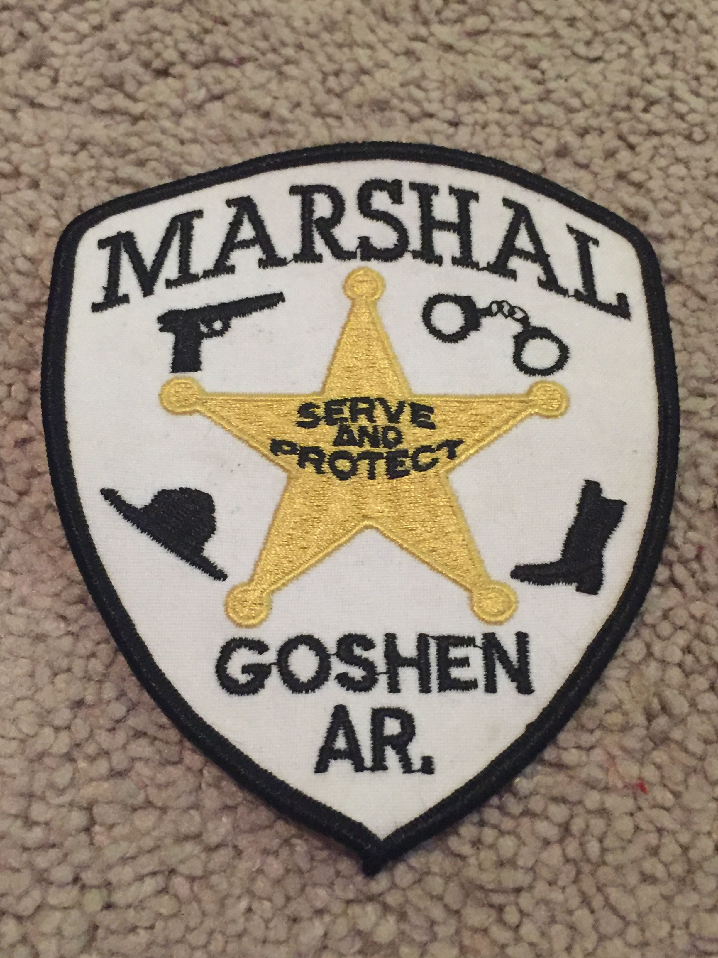 Goshen Marshal Police patches, Badge, Police