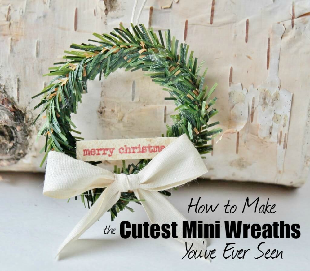How To Make The Cutest Mini Wreaths You Ve Ever Seen In 2020 Mini Wreaths Mini Wreaths Christmas Christmas Projects