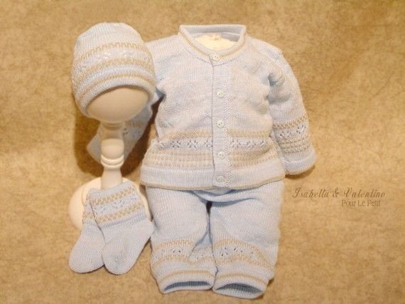 Knitting Pattern Baby Boy Christening : Knitting Patterns Christening Baptism ... Knit Set ...