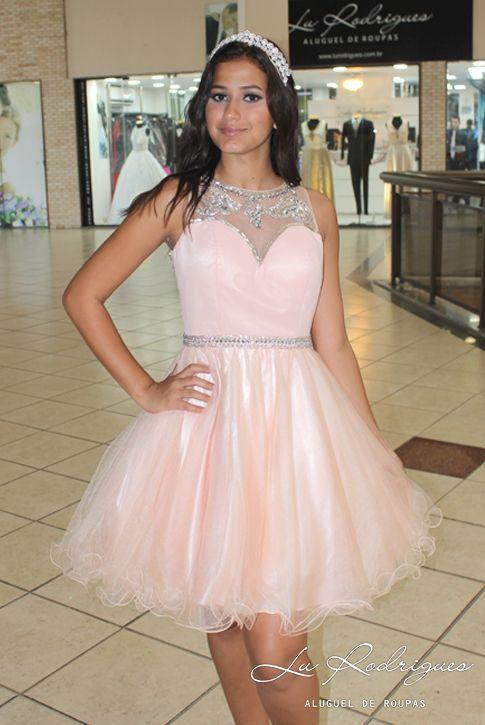 Amado Vestido de Debutante Curto 67 Rosa Chá | Vestidos de Debutantes  HP63