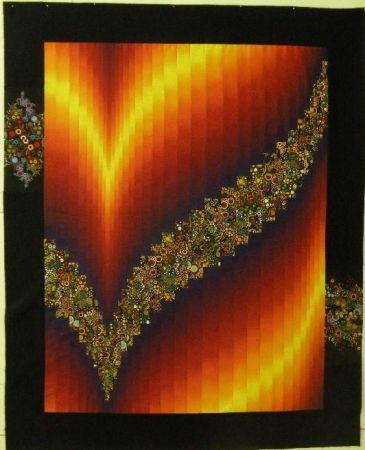 Two Fabric Bargello | Quilt Patterns I Have Taught | Bargello quilt