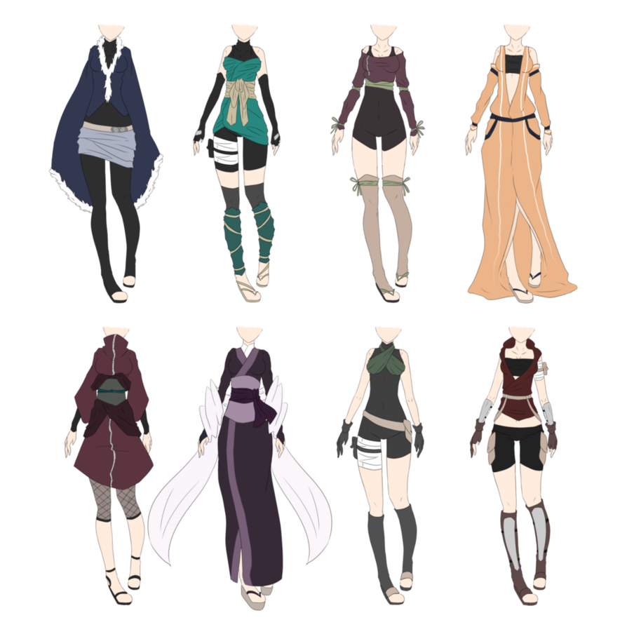 Character Design Outfits : Naruto outfit adoptables closed by xnoakix on