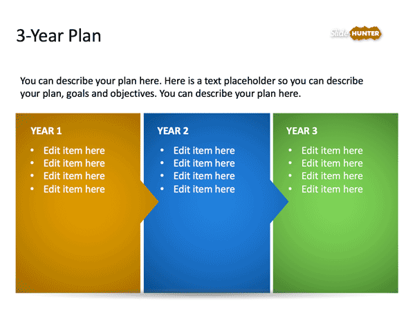 3-year strategic plan powerpoint template is a free presentation, Presentation templates