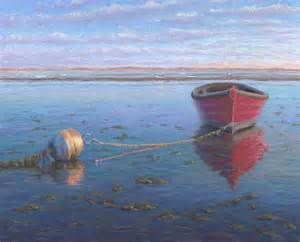 Pastel Painting: Red Mahogany Boat II Pastel Painting by Poucher