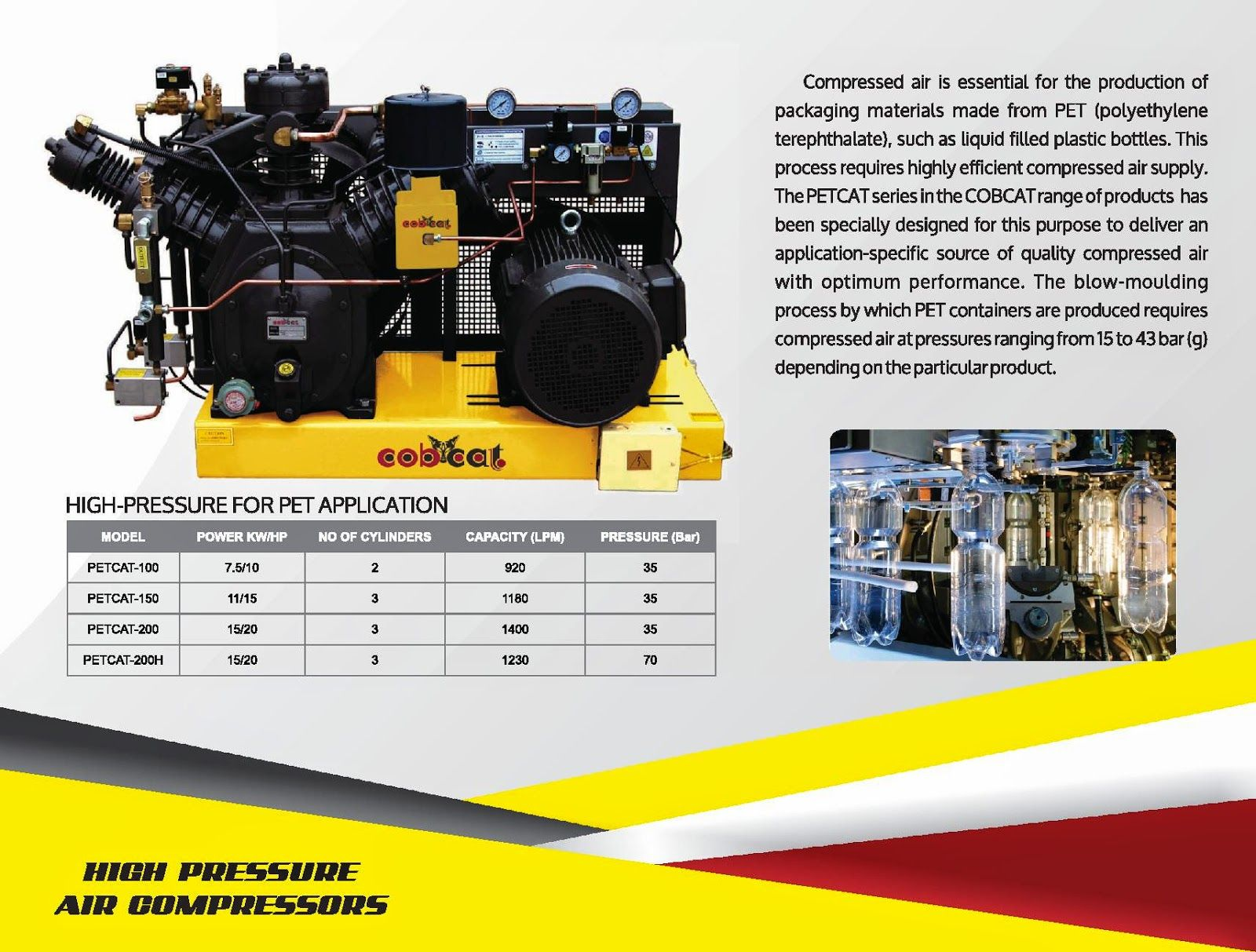 Compressed Air Solutions High pressure compressor