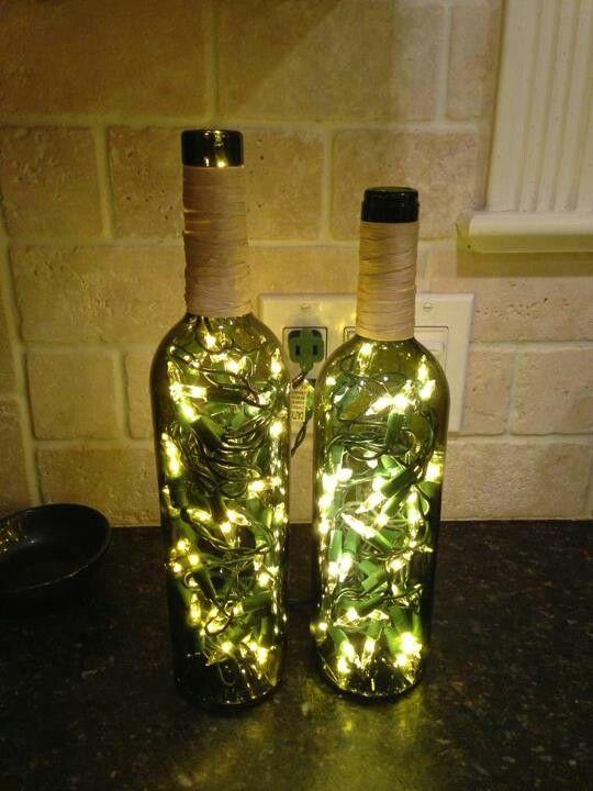 Bottle lights by Em & Jen