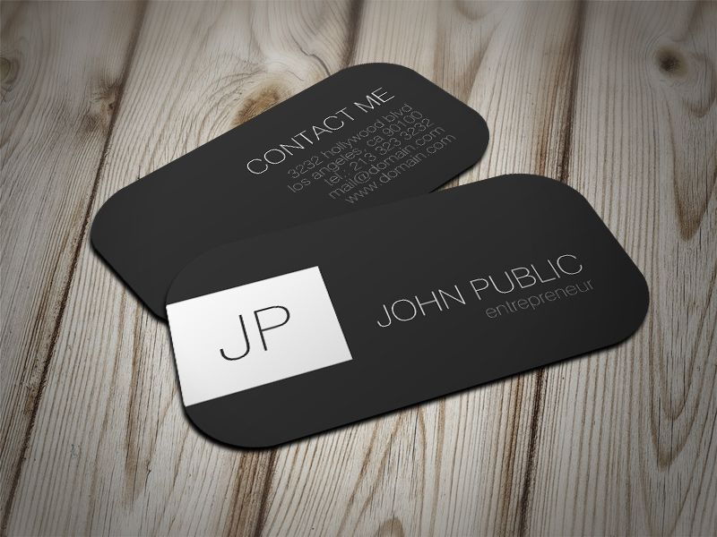 Modern Elegant Minimalist Rounded Corners Business Card | Business ...
