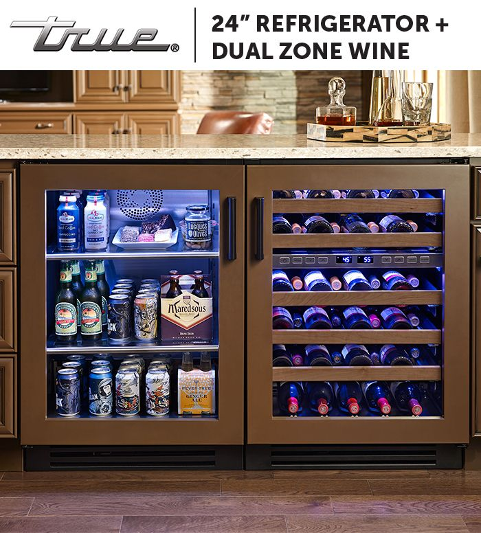 All True Undercounter Refrigerators Are Rated For Open Food Storage Making Them Safe To Store Snacks Beverages Wine Glass Door Refrigerator Beer Fridge Home