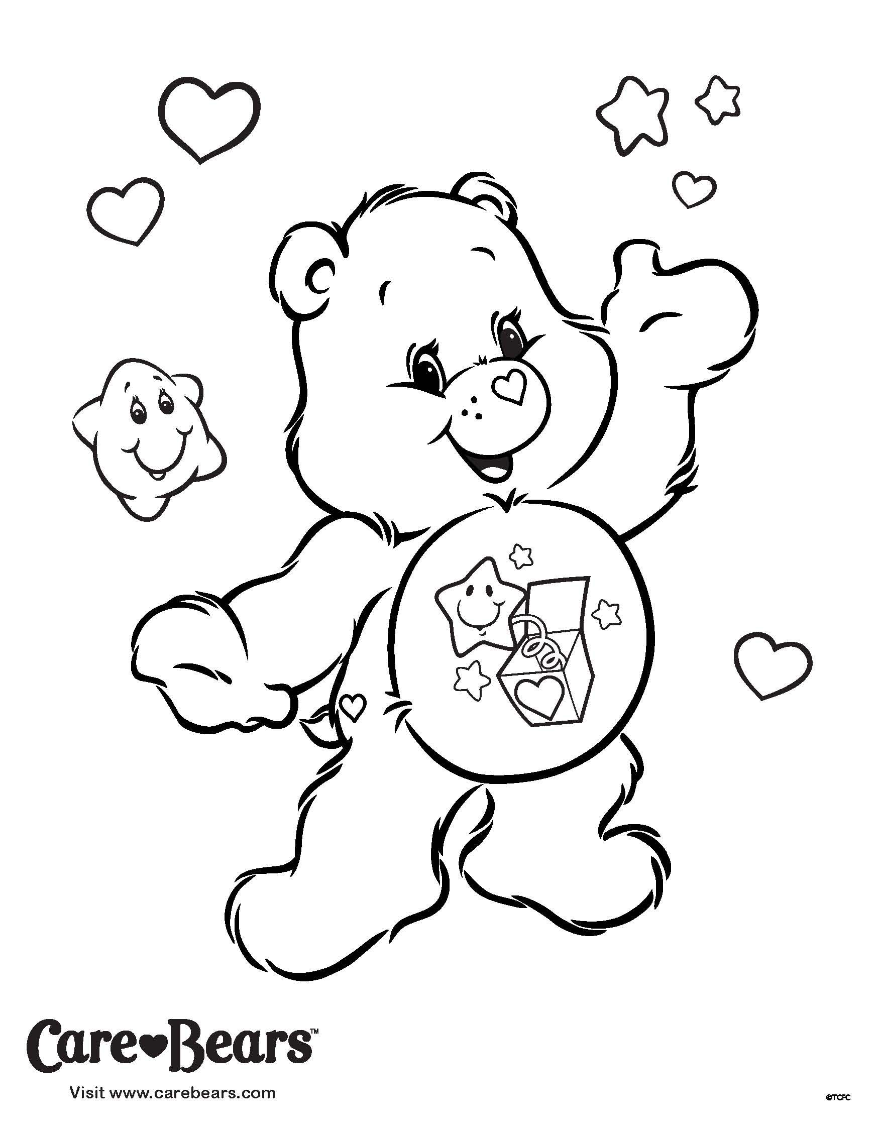 Bedtime Care Bear Coloring Pages Top Free Printable