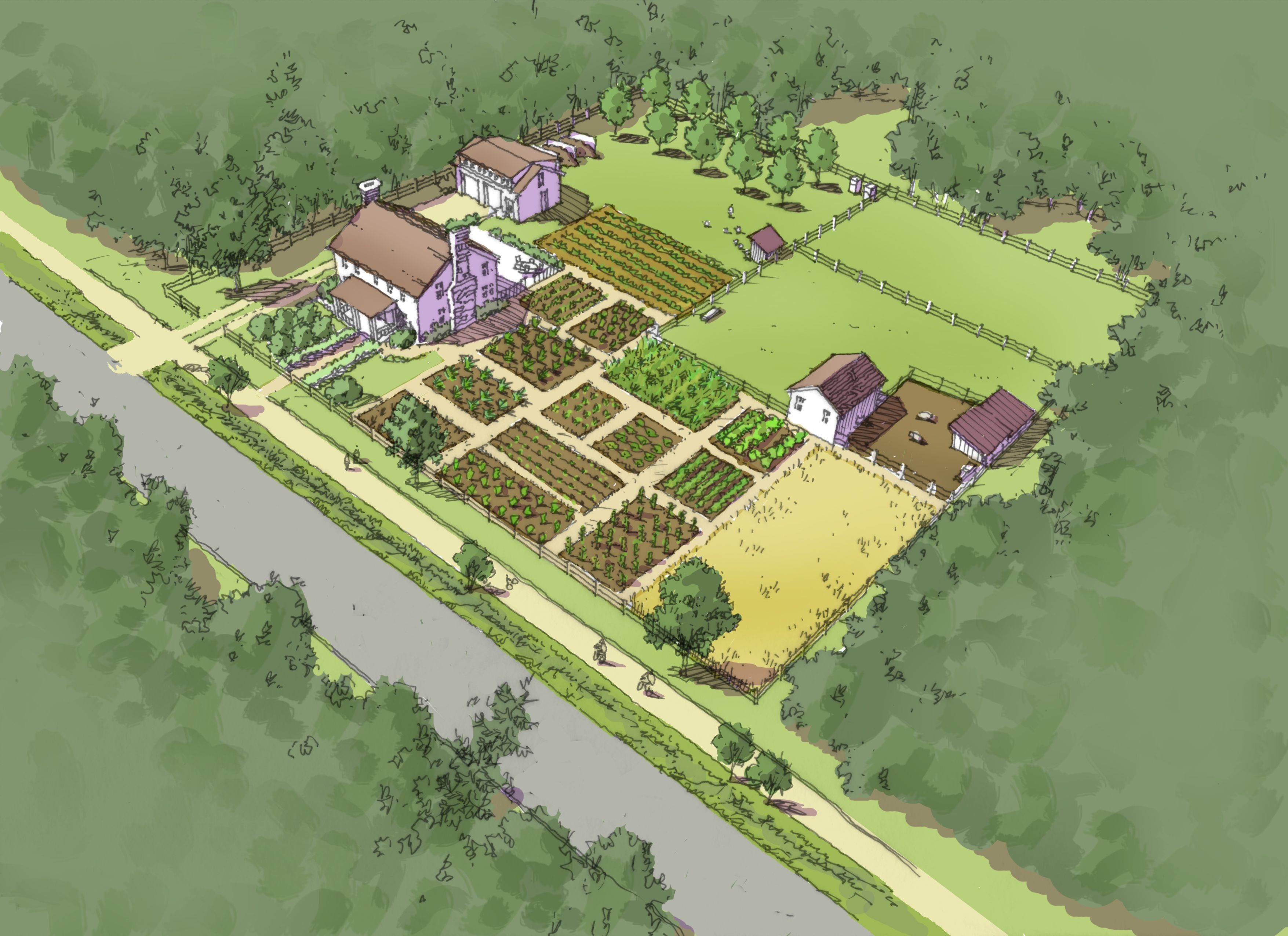 Illustrated comprehensive plan self sufficient one acre for Self sufficient house plans