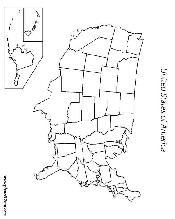 USA Map Blank Worksheets Pinterest Worksheets Free - Usa map plain