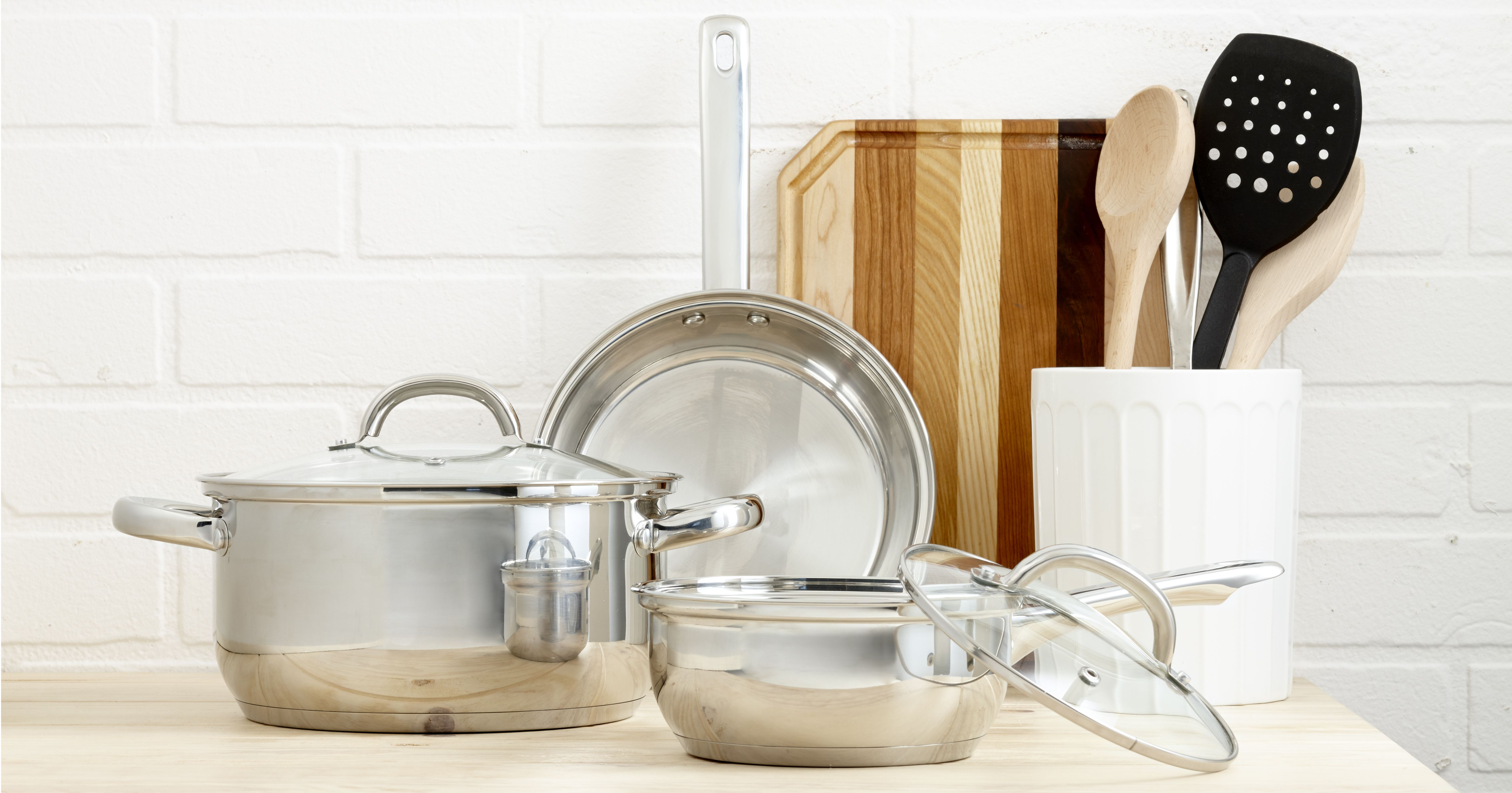 Pots, pans, cutting boards and cooking tools! Some of the hardest ...