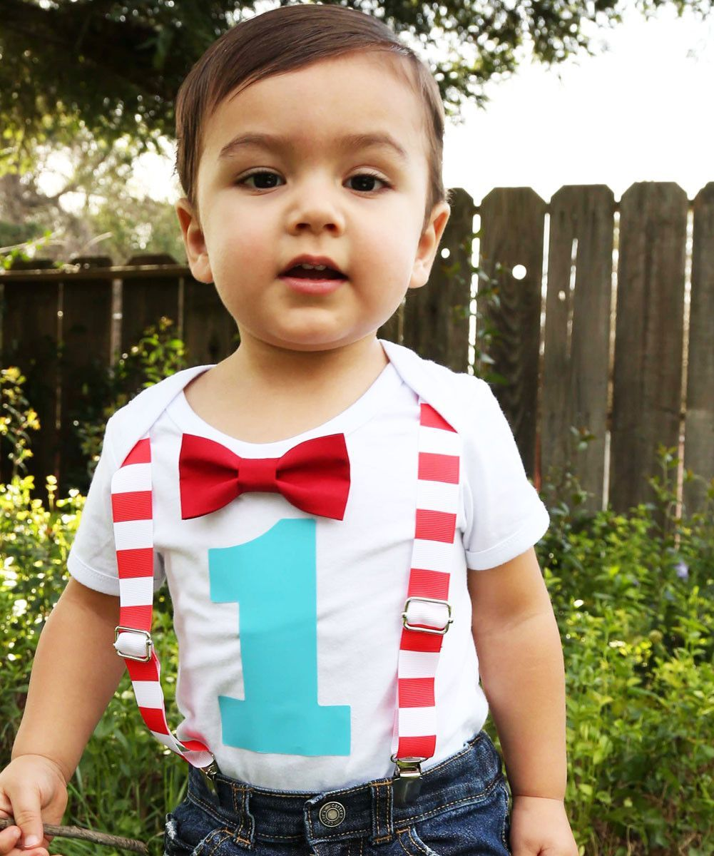 Circus First Birthday Outfit Baby Boy Carnival Theme Red