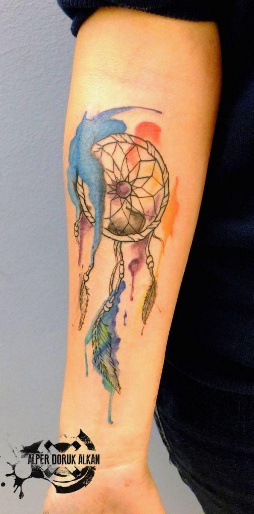 6e80efbf6 166 Dreamcatcher Tattoos for a Good Night Sleep | tatoos | Dream ...