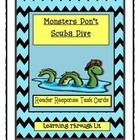 Bailey School Kids MONSTERS DON'T SCUBA DIVE * Reader Response Task Cards  Higher-order, quality questions from each chapter, including content and academic vocabulary.  * Perfect for partner/group discussions, literatur...