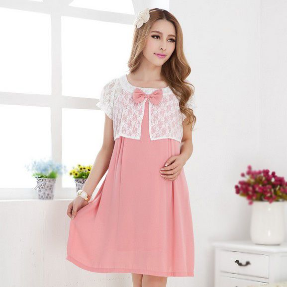 Faux-Two-Piece-Pregnant-Women-Dress-Summer-Maternity-Clothing ...