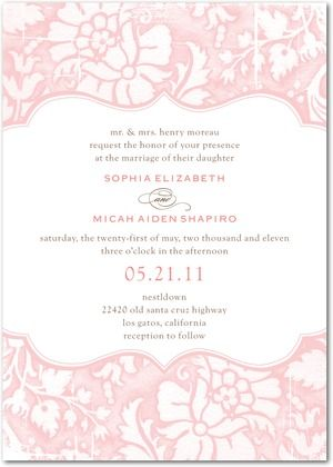 Pink And White Invites Signature Textured Wedding Invitations Tender Elegance Front Powder Blue