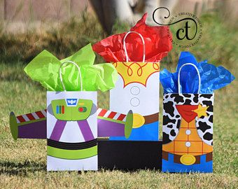 Toy Story Favor Bag Toy Story Favor Toy Story Birthday Toy Story