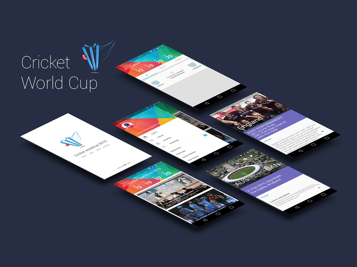 UX Research & UI Design Cricket World Cup App on Behance