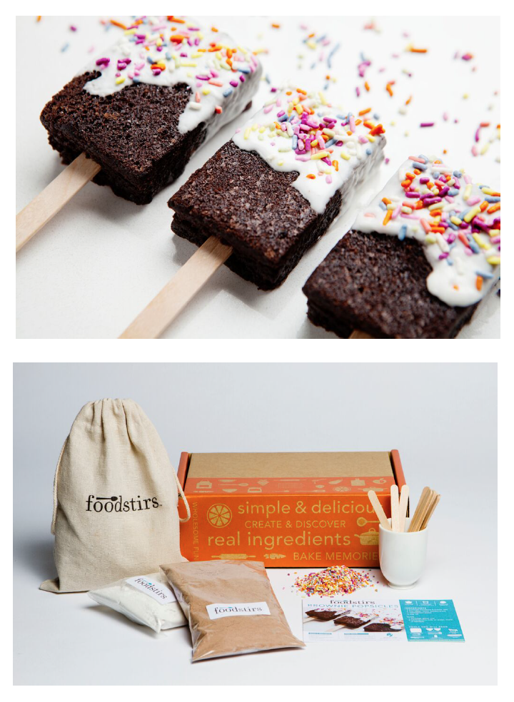 The Brownie Popsicle Kit is a new and unique twist on the ubiquitous frozen treat… and best of all, these popsicles won't melt! So heat up your oven, and get crafty with your family and friends with these one-of-a-kind treats.