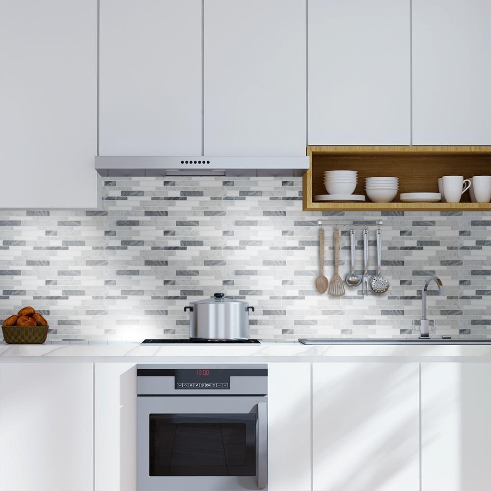 semi polished marble mosaic tile