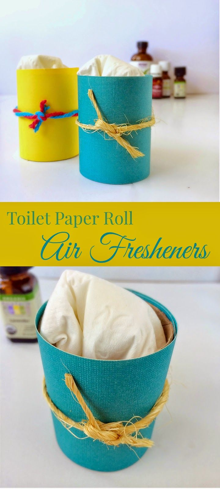 Diy air fresheners from toilet paper rolls diy recycle for Recycling toilet paper tubes