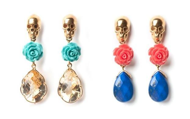 Skullandra earrings by lei van kash lei van kash una for Designer di gioielli