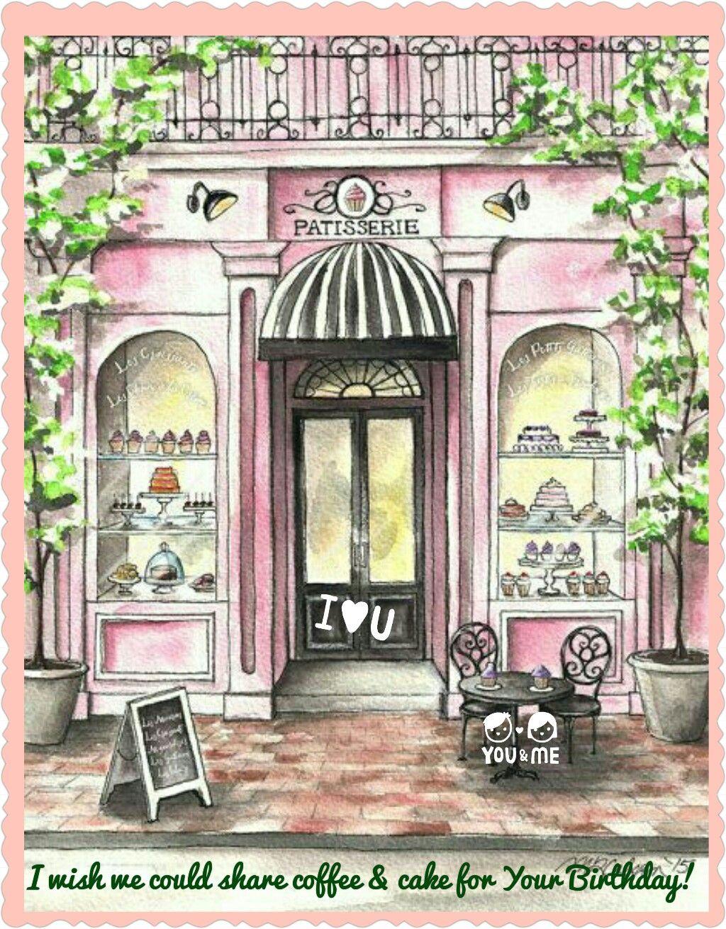 Christian Fallot Aquarelle Cafe D Antan Art Christian Watercolor