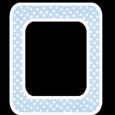 Free Baby Blue Polka Digi Scrapbook Frame with White Border ***Join ...
