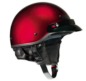 Vega Xt Half Helmet Black Cherry Red