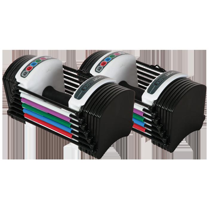 The PowerBlock Sport 24 Set has weight range from 324 lbs