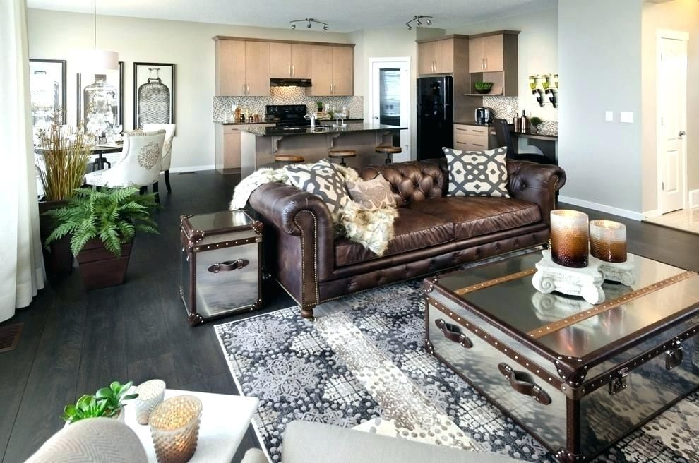 Brown Furniture In A Gray Room Google Search Leather Couches Living Room Gray Living Room Design Brown Living Room Decor
