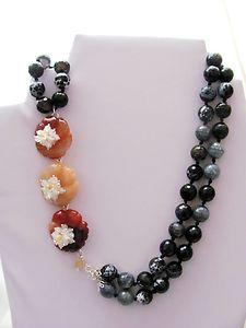 necklace - corniola,agata dendritica,giada,quarzo citrino