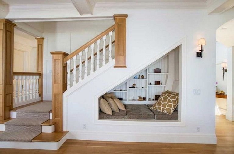 57 Comfy Simple Reading Nook Decor Ideas Stairs Design Small