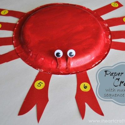 Paper Plate Crab Craft with Numerical Sequence Practice & Paper Plate Crab Craft with Numerical Sequence Practice | Kids Craft ...