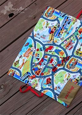 DIY: This simple car mat is great for your kids to play with their Hot Wheels cars on-the-go!
